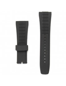 20-26mm Silicone Black Watch Band Strap For Seiko Velatura Watch Replaceable