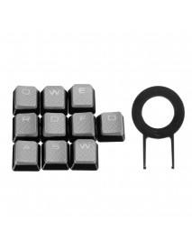 10 Key Backlit Translucent Keycap Key Caps For MX Switch Mechanical Keyboard For Corsair FPS