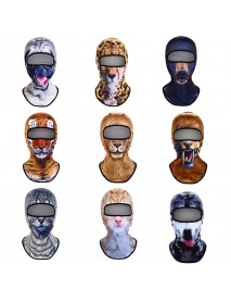 3D Animal Breathable Bicycle Ski Full Face Mask Hats Outdoor Sport Warm Hat For Men Women