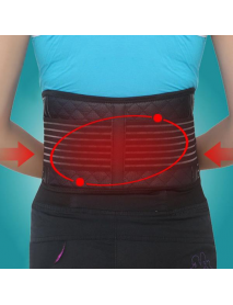 AOLIKES Self Heating Magnetic Therapy Back Support Brace Detachable Infrared Cloth Pain Relief