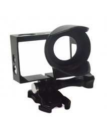 Anti-Exposure Frame Mount with Lens Hood Housing Case for GoPro HERO 4 3+/3