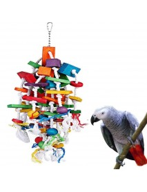 45-50CM Length Multicolor Pet Toys Bird Parrot Chewing Toy For Large & Medium Parrot