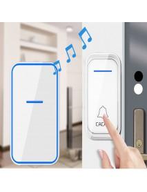CACAZI 1 Receiver 1 Transmitter EU Plug 300M Remote Home Waterproof LED Indicator Wireless Smart Digital AC Electronic Doorbell