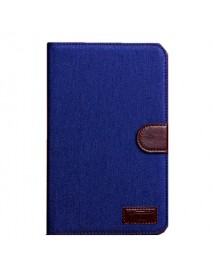 Denim Design Folio PU Leather Case Cover For Samsung Galaxy T110