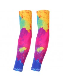 1Pair Men Outdoor Sports Breathable Quick-drying Long Cuffs Riding Basketball Sunblock Arm Sleeve