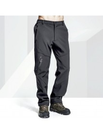 Men's Outdoor Waterproof Zipper Fly Trousers Breathable Windproof Warm Climbing Pants