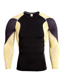 JACK CORDEE Men's Sports Tights PRO Splice Color Long Sleeved T-shirt Casual Running Training Tops