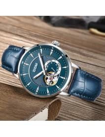 DOM M-8104 Fashion Men Watch 3ATM Waterproof Luminous Display Genuine Leather Automatic Mechanical Watch