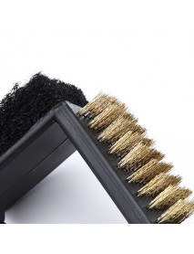 3 In 1 Barbecue Grill Cleaning Brush Cleaner BBQ Sponge Wire Brush Kitchen Tool