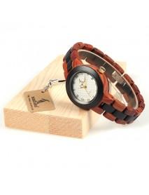 BOBO BIRD M19 Roman Number Date Display Women Wrist Watch Wooden Quartz Watch