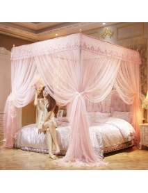 1.8x2m Four Corner Mosquito Net Pest Bed Netting Curtain Panel Bedding Canopy for Home Bathroom Decor