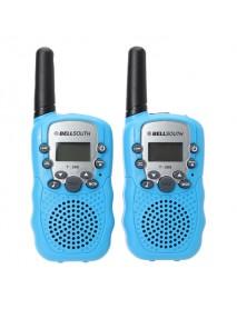 2pcs T-388 0.5W UHF Auto Multi-Channels Mini Radios Walkie Talkie Black