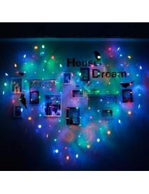 2x1m 128 LED Heart Shape Light String 220V Curtain Light Home Decor for Festival Christmas