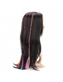 55cm Colourful Diamond Synthetic Fiber Hair Braid Extensions Halloween