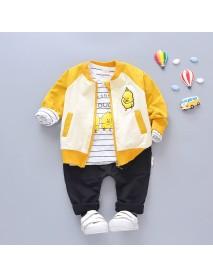 Duck Boys Girls Clothing Sets Coat + T-shirt + Pants