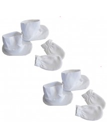 Bambini Infant Booties & Mitten Set White (Pack of 2)