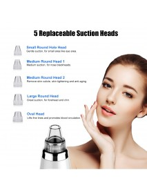 Blackhead Remover Vacuum Electric Facial Beauty Machine Comedo Suction Pore Cleaner Extractor Tool,5 Replaceable Suction Heads