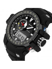 SANDA 399 Dual Display Digital Watch Calendar Luminous Display Alarm Clock Watch Outdoor Sport Watch