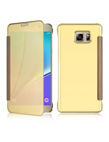 Bakeey Plating Mirror Smart Sleep Flip Case for Samsung Galaxy Note 5