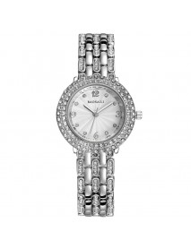 BAOSAILI B-8111 Diamond Ladies Bracelet Watch Fashionable Stainless Steel Strap Quartz Watch