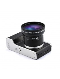 24MP 12X Optical Zoom Anti Shake 4 Inch Touch Screen Digital SLR Camera with Wide Angle Lens