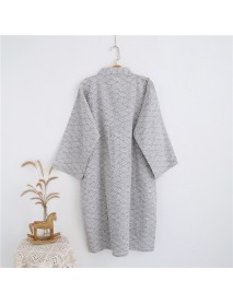 Men Japanese Kimono Yukata Bathrobe Robe Bath Dress Gown Sleepwear Lounge Pajama