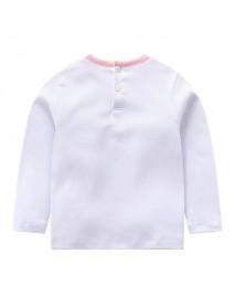 Kid Girls Long Sleeve Cartoon Character Cotton T-shirt