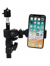 Dimmable LED Studio Camera Ring Light Makeup Photo Lamp Selfie Stand USB Plug Tripod with Phone Holder for Youtube Video