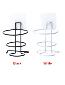 Hair Dryer Iron Rack Holder Organizer Bathroom Wall Mounted Storage Stand Hanger