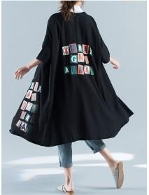 Casual Women Printed Loose Long Cardigans