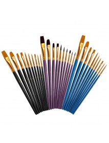 10 Pcs Mixed Head Painting Brush Nylon Brush Combination Set Oil Watercolor Painting Profession Art Supplies