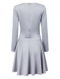 Sexy Gray Cut Out Mini Skater Dress For Women