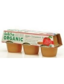 Santa Cruz Organic Cinnamon Applesauce (12x6x4 Oz)