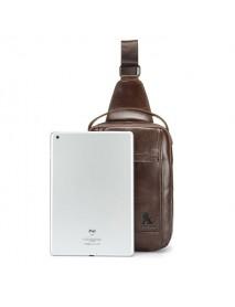 Business Men Genuine Leather Chest Bag Crossbody Bag