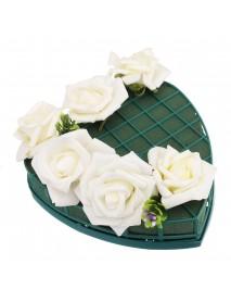 1-8 Pcs Heart Shape Flower Wet Foam Fresh Floral Bridal Wedding Party Car Table For Wedding Car Decorations
