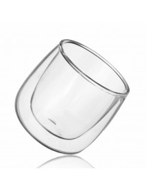 Clear Double Layer Insulated Water Coffee Cup Heat Insulation Transparent Glass Tea Cup