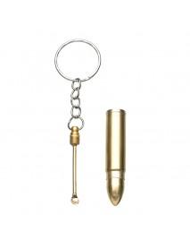Bullet Pendant Key Chain Alloy Ear Pick Key Ring Gift