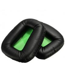 2 x Replacement Green Black Ear Pad Cushion For Razer Electra Version Headphone