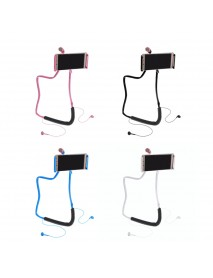 360 Rotating Neck Hanging Phone Holder Lazy Stand For 4-10 Inch Cellphone Tablet