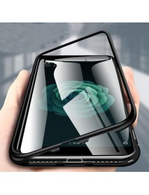 Bakeey 360 Magnetic Adsorption Flip Metal Tempered Glass Protective Case for Xiaomi Mi A2/ Mi 6X
