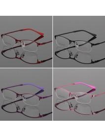 Eye Glasses Half Rimless Glasses Frame Eyeglasses Clear Lens Metal&TR90 Optical Glasses RX Spectacles