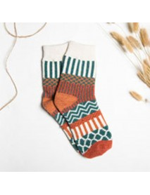 Christmas Casual Sheath Tribal Women Socks Five Pairs For A Set Sock