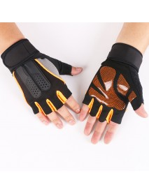 Men Women Fitness Gym Wristband Gloves Outdoor Sports Half Finger Slip Riding Gloves