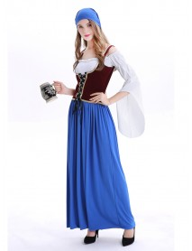 Halloween Court Sexy Maid Cosplay Costume Party Dress