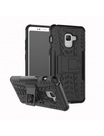 Bakee 2 in 1 Armor Kickstand TPU PC Protective Case for Samsung Galaxy A8 Plus 2018