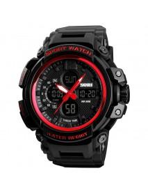SKMEI 1343 Digital Watch Dual Display Chronograph 3 Time Waterproof Alarm Digital Quartz Wrist Watch