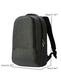 Men Canvas 15.6-inch Laptop Backpack Water Resistant Casual Daypack