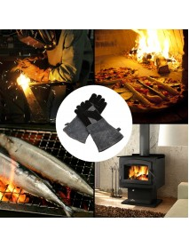 2pcs Barbecue Gloves High Temperature Double Insulated Kitchen Microwave Oven Baking Cooking Glove
