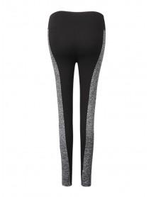 Women Plus Size AB Faces Color Block High Elastic Hips Up Work Out Yoga Leggings Pants