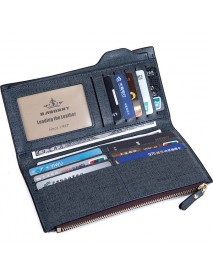 18 Card Slots Men PU Leather Casual Business Long Wallet Multifunctional Clutches Bag Card Holder